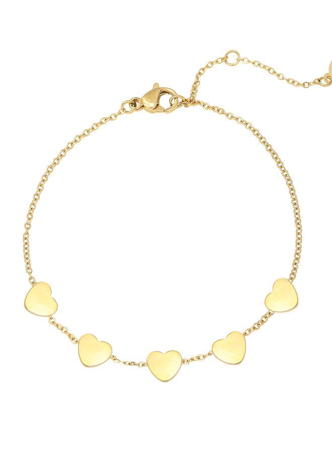 Armband 5 Hearts