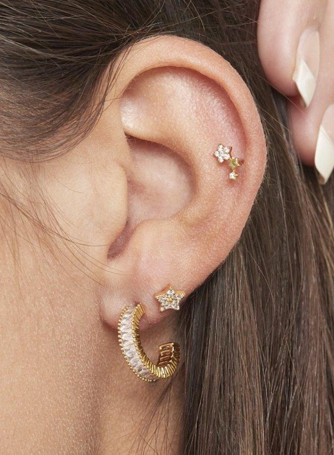 Piercing 3 Little Stars