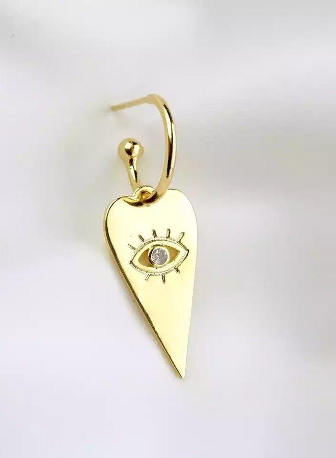Oorbellen Heart Eye