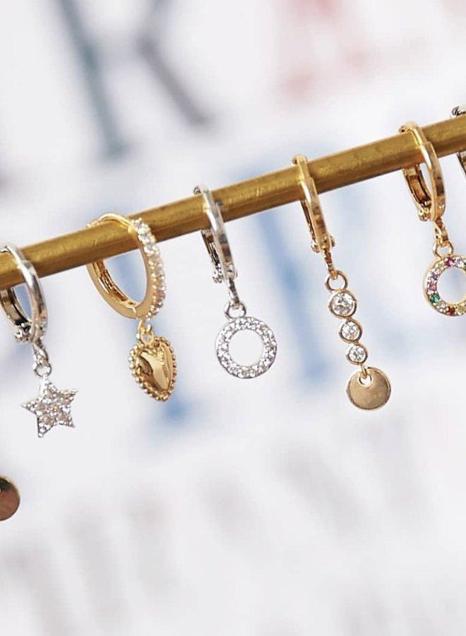 Oorbellen Colourfull Gems & Coin