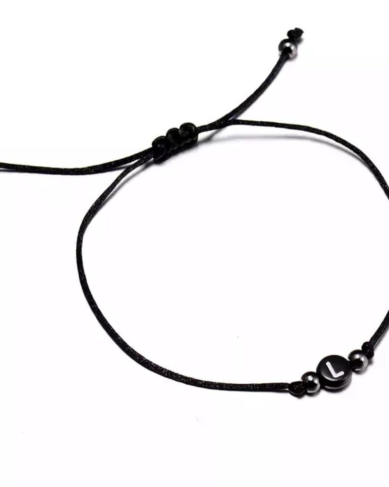 Fashion-Click Armband Initial Bead