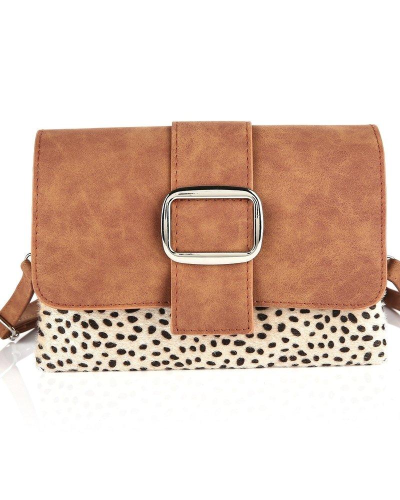 Fashion-Click Tasje Cheetah Buckle