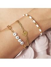 Fashion-Click Armband Tekst Beads