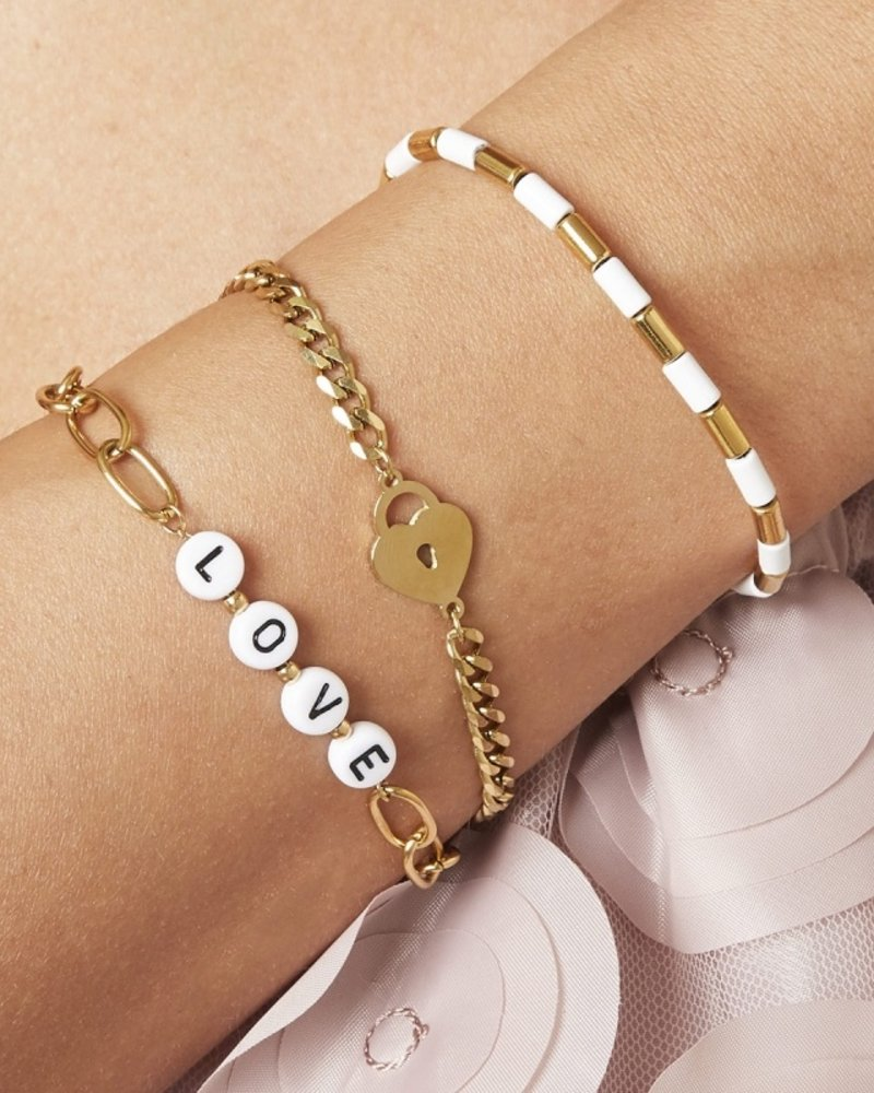 Fashion-Click Armband Tekst Beads