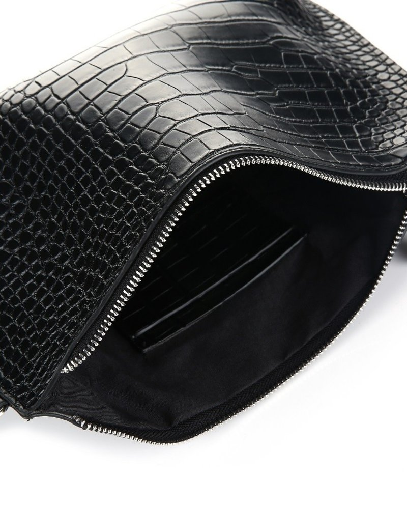 Fashion-Click Tas Croco Revival Black