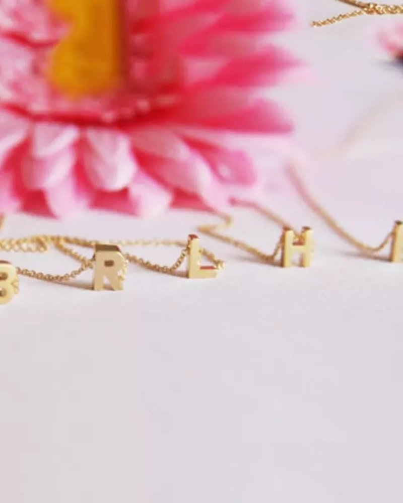 Fashion-Click Ketting Letter Goud