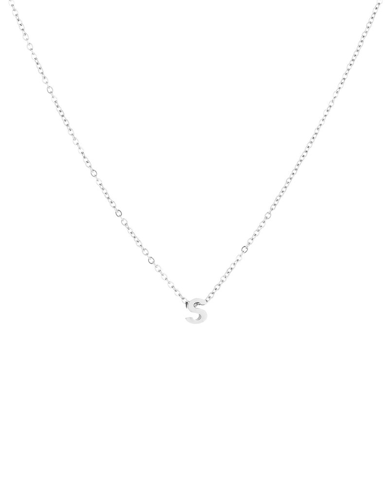 Fashion-Click Ketting Letter Zilver
