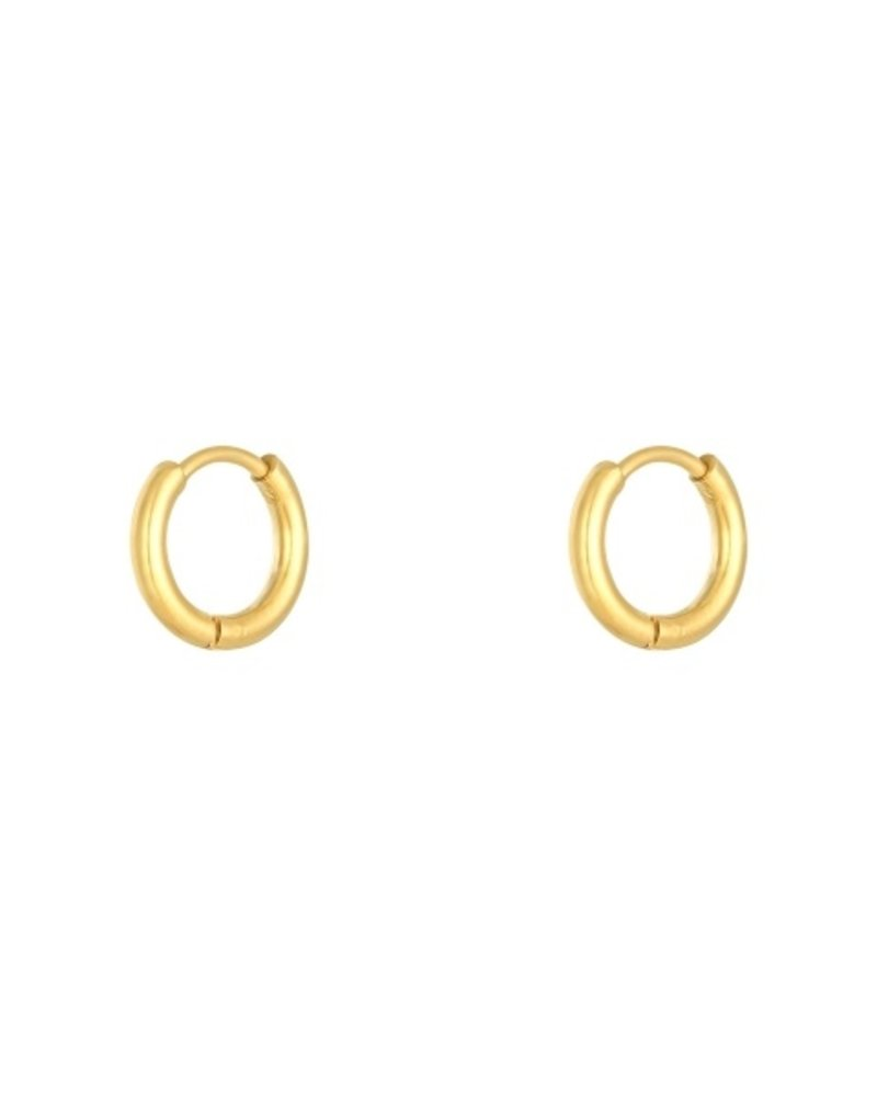 Fashion-Click Oorbellen Little Hoops 1,2cm