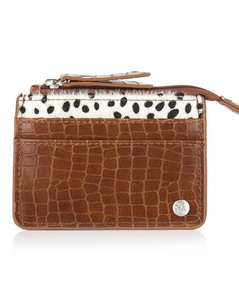 Fashion-Click Pasjes Houder Brown Cheetah