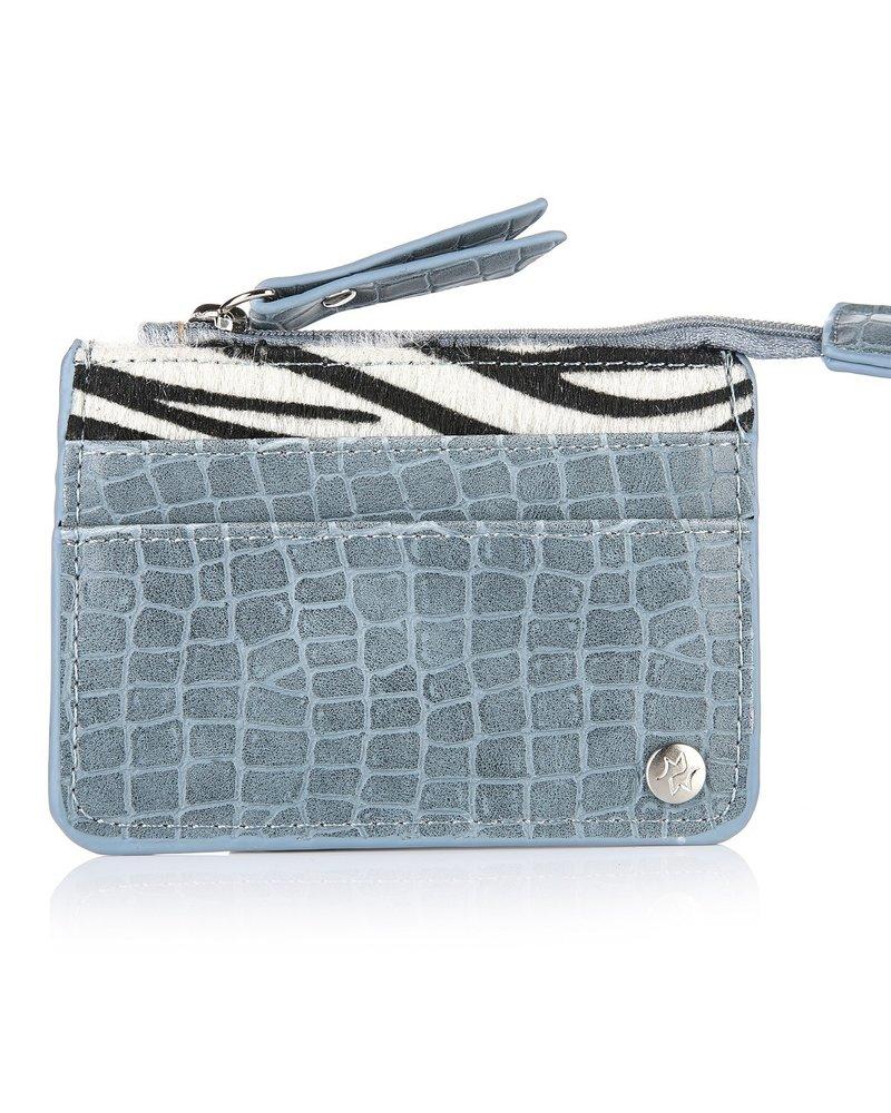 Fashion-Click Pasjes Houder Blue Zebra