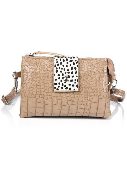 Fashion-Click Tasje Croco Cheetah