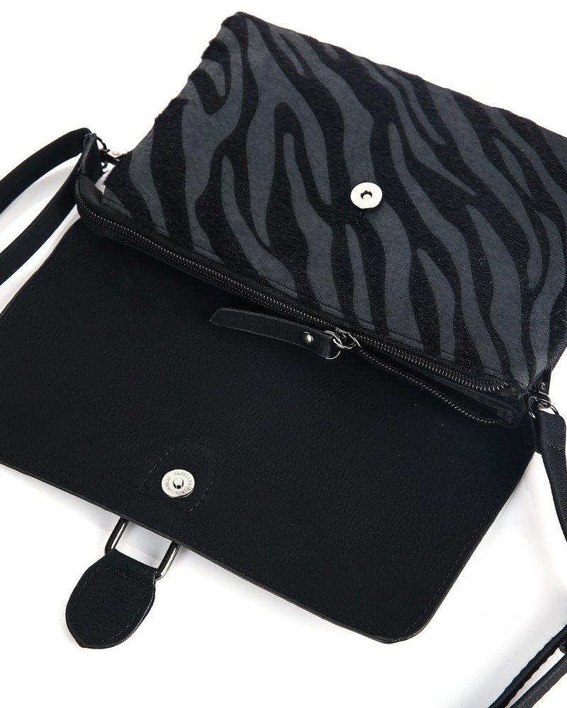 Fashion-Click Tasje My Favorite Zebra Black