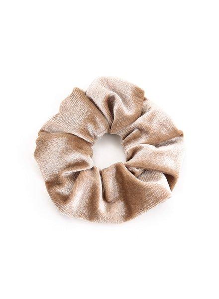 Fashion-Click Scrunchie Velvet Beige