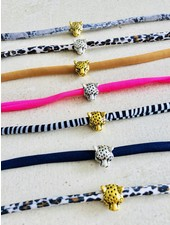 Fashion-Click Armband Leopard Head