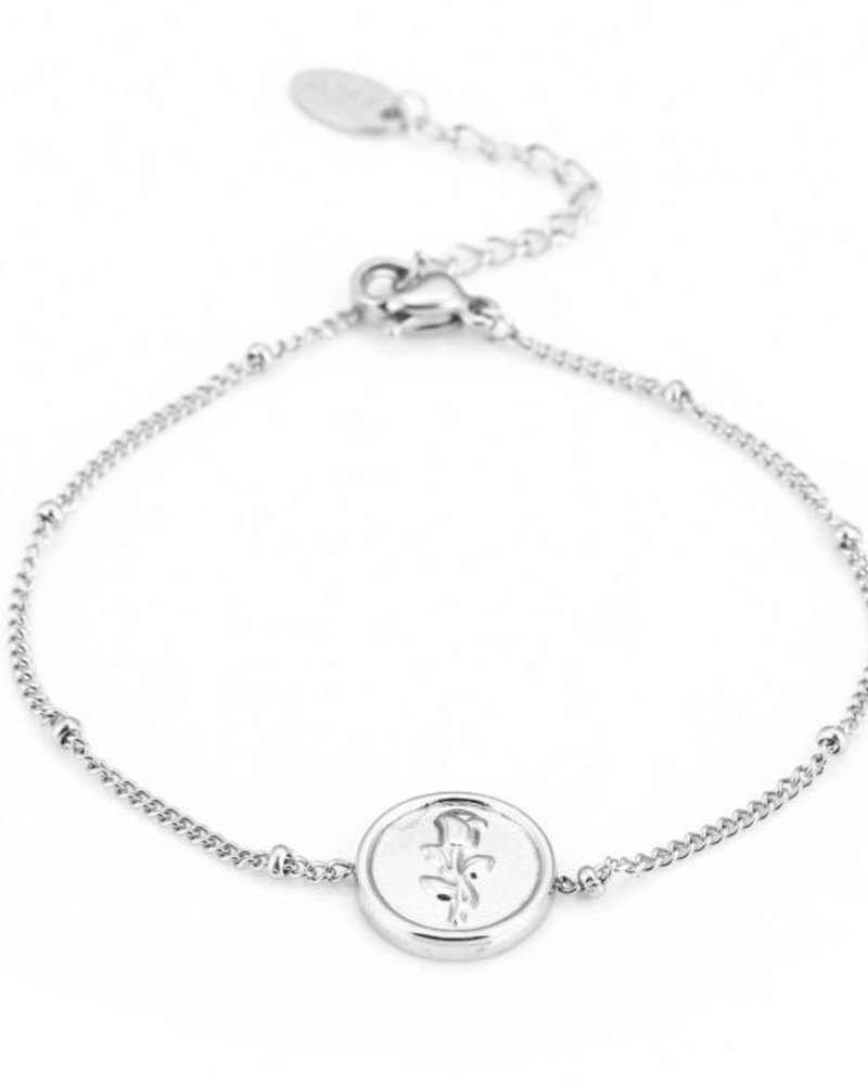 Fashion-Click Armband Coin Rose