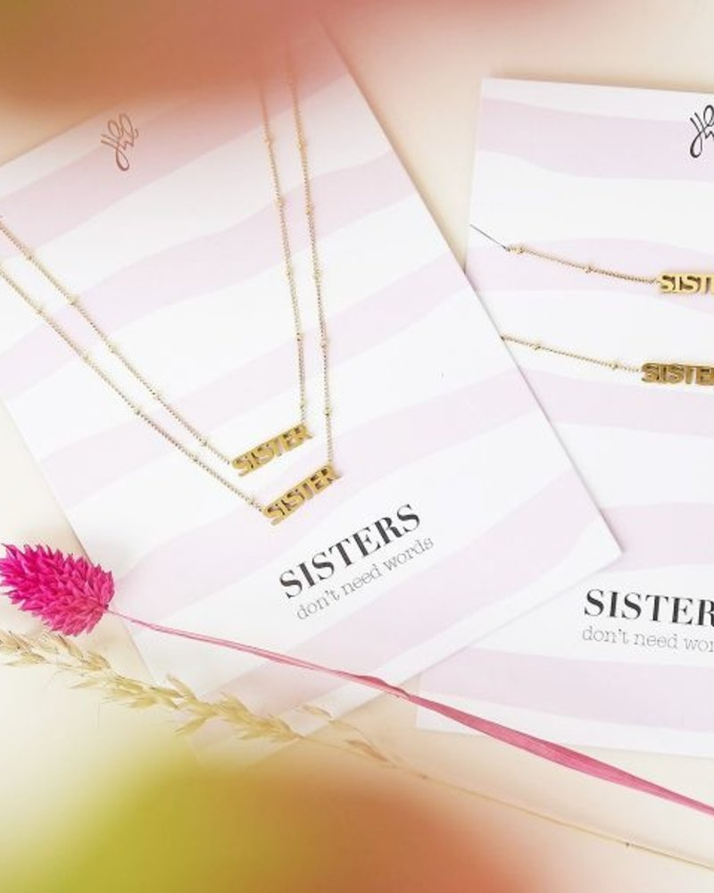 Fashion-Click Ketting Setje Sister Don't Need Words