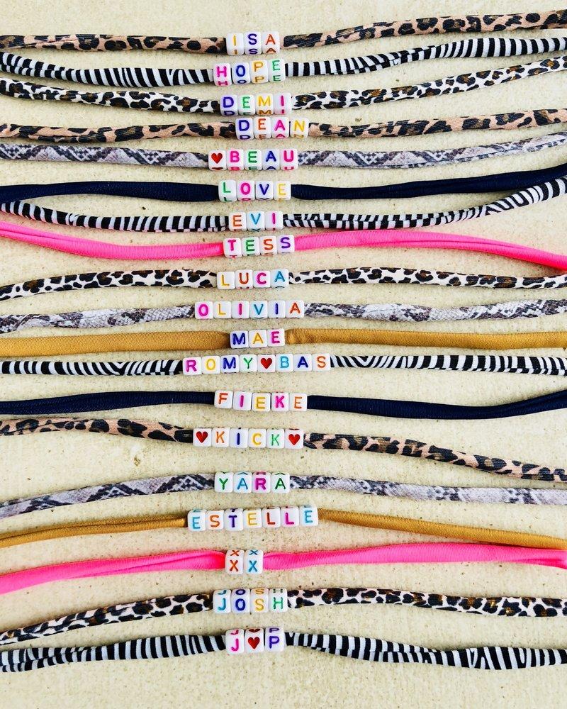 Fashion-Click Naam Armband Colourfull