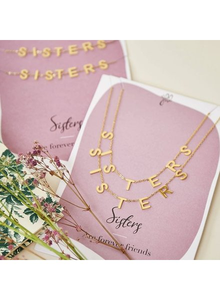 Fashion-Click Ketting Setje Sisters Forever Friends