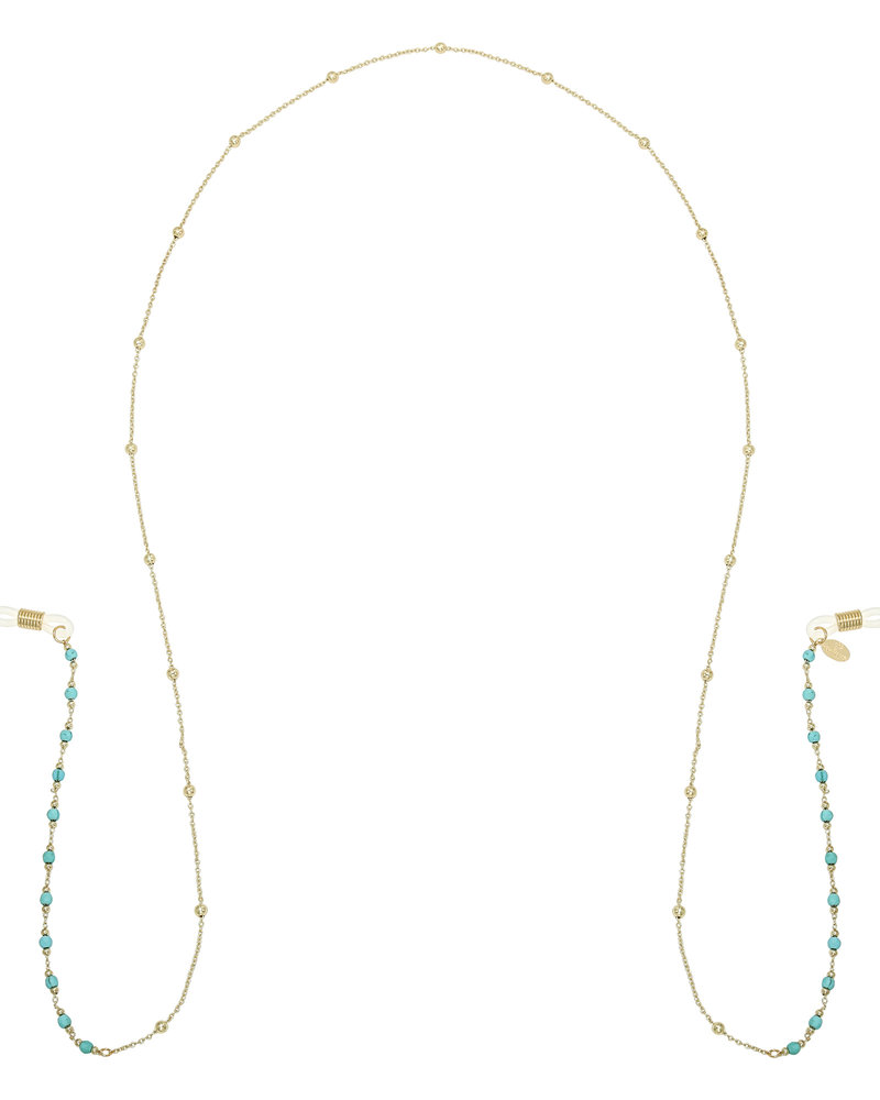 Fashion-Click Zonnebrilkoord Blue Beads