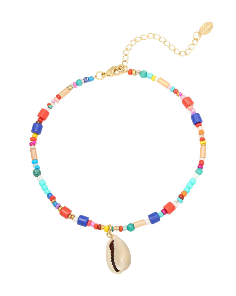 Fashion-Click Armband Colourfull Beads And Shell