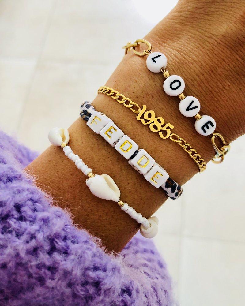 Fashion-Click Armband Jaartal