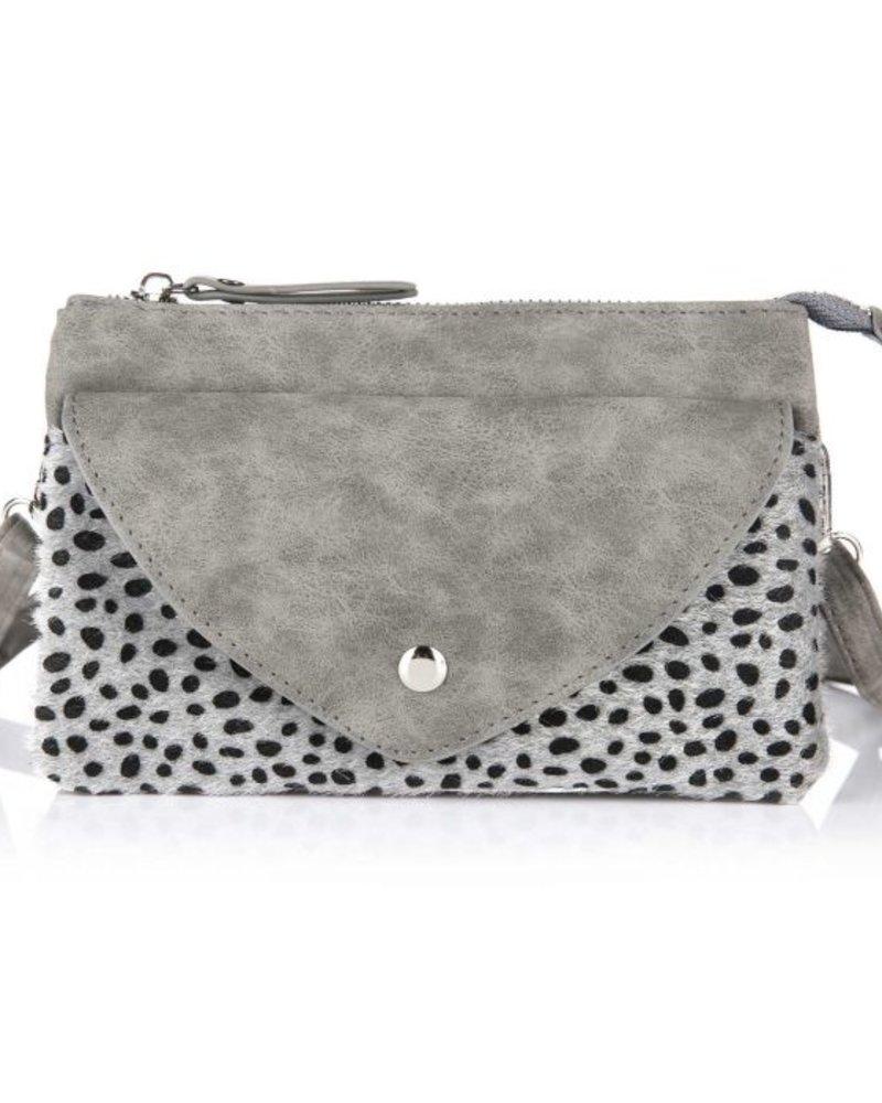 Fashion-Click Tasje Cheetah Grijs