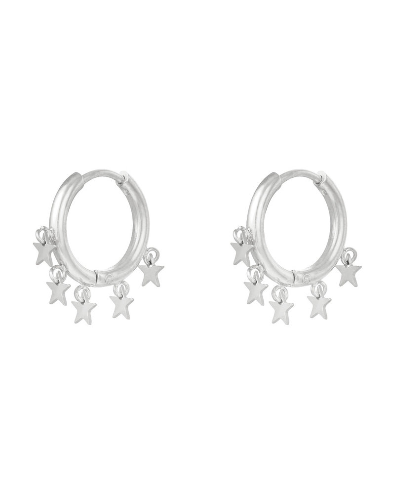Fashion-Click Oorbellen Dangling Stars