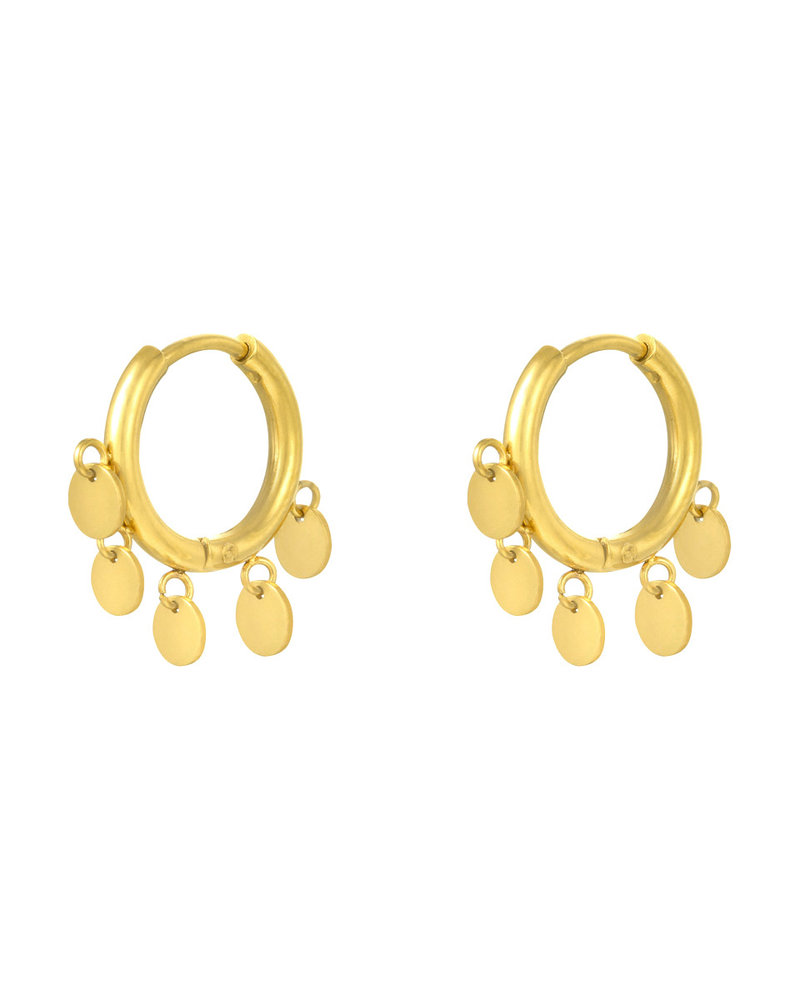 Fashion-Click Oorbellen Dangling Circles
