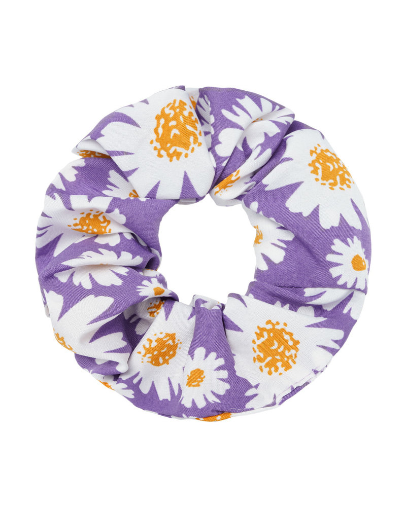 Fashion-Click Scrunchie Daisy Paars
