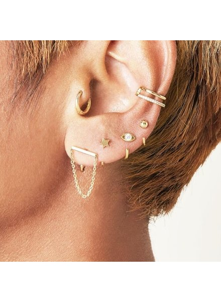Fashion-Click Earcuff Double Up