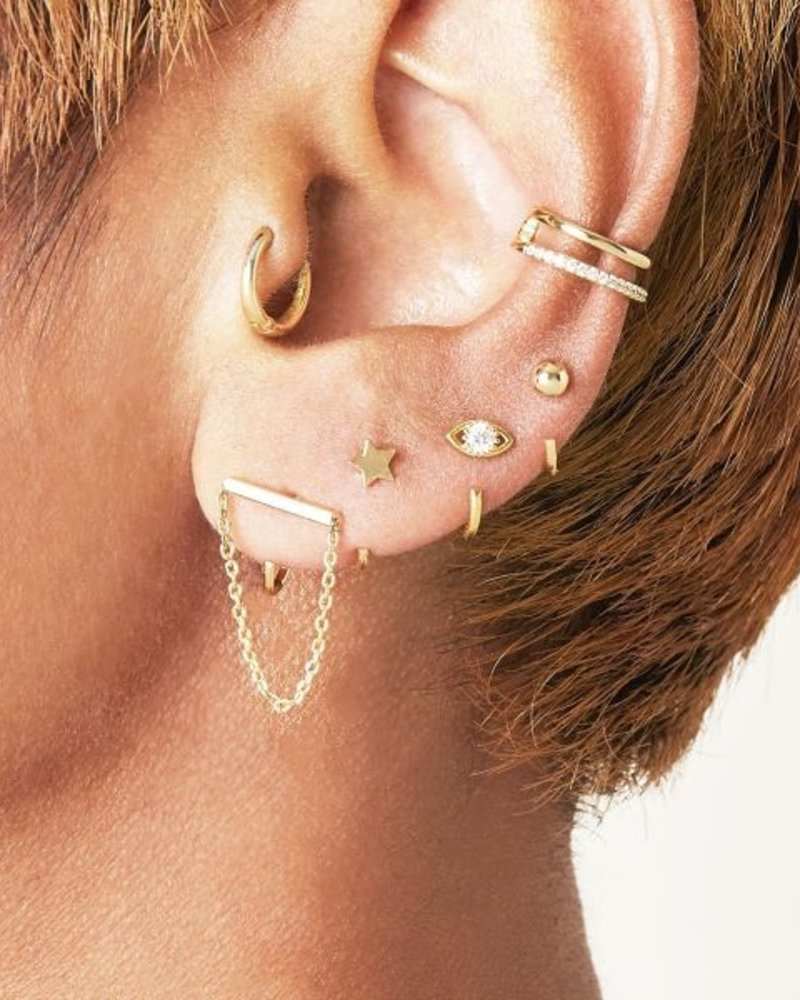 Fashion-Click Earcuff Double Up