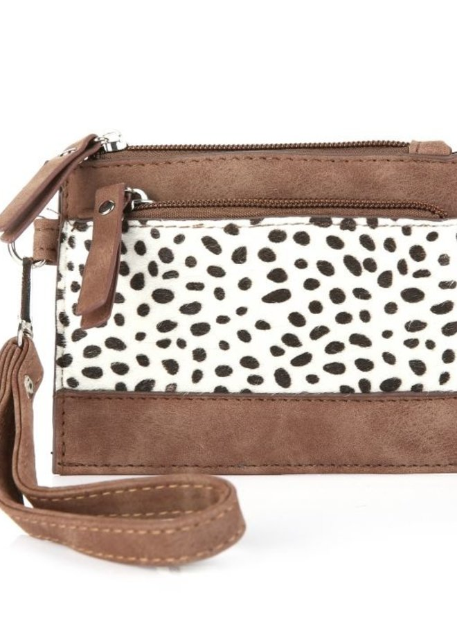 Portemonneetje Cheetah Bruin