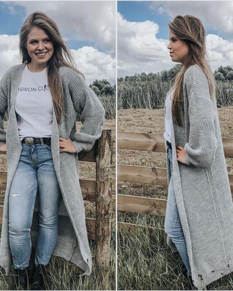 Fashion-Click Lang Vest Grijs