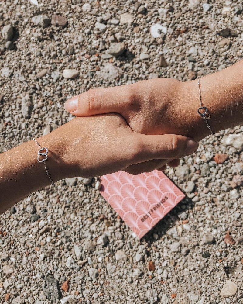 Fashion-Click Armbanden Setje Best Friends Hearts