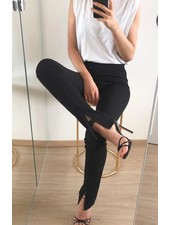 Fashion-Click Split Legging Autumn Black