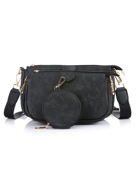 Fashion-Click Multi Tas Pochette Zwart