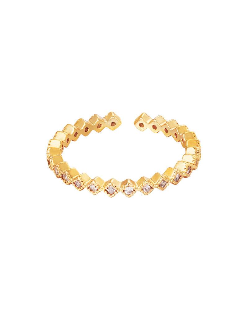 Fashion-Click Ring Precious Stones