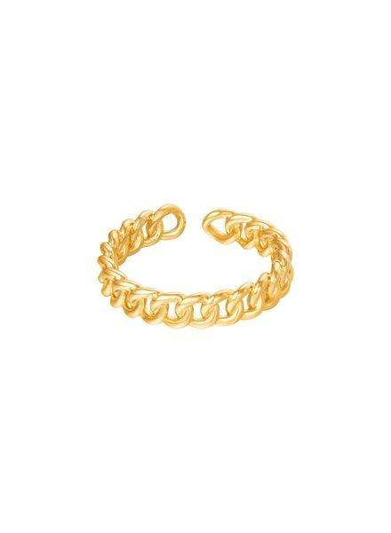 Fashion-Click Ring Open Chain