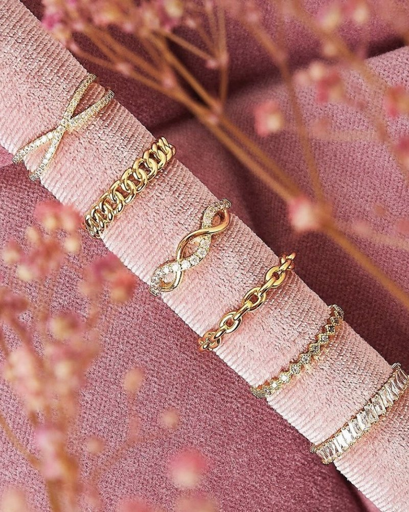 Fashion-Click Ring Little Zircons
