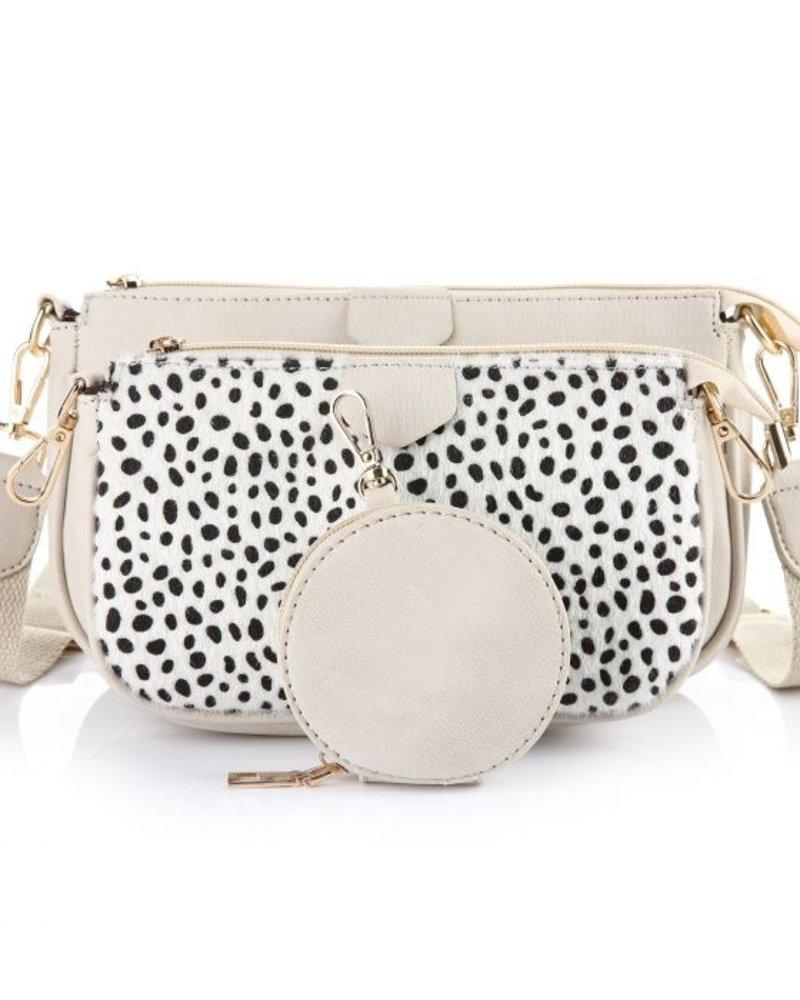 Fashion-Click Multi Tas Pochette Chetaah Beige