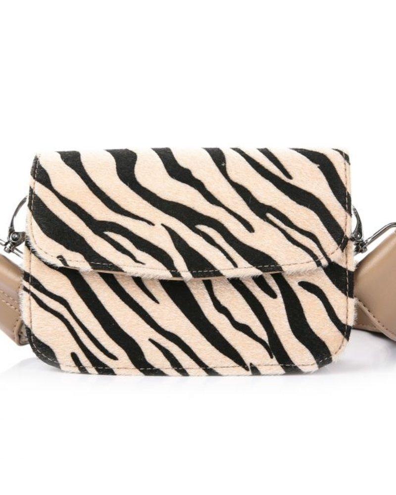 Fashion-Click Tas Zebra Beige