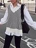Fashion-Click Pied De Poule Knit Spencer
