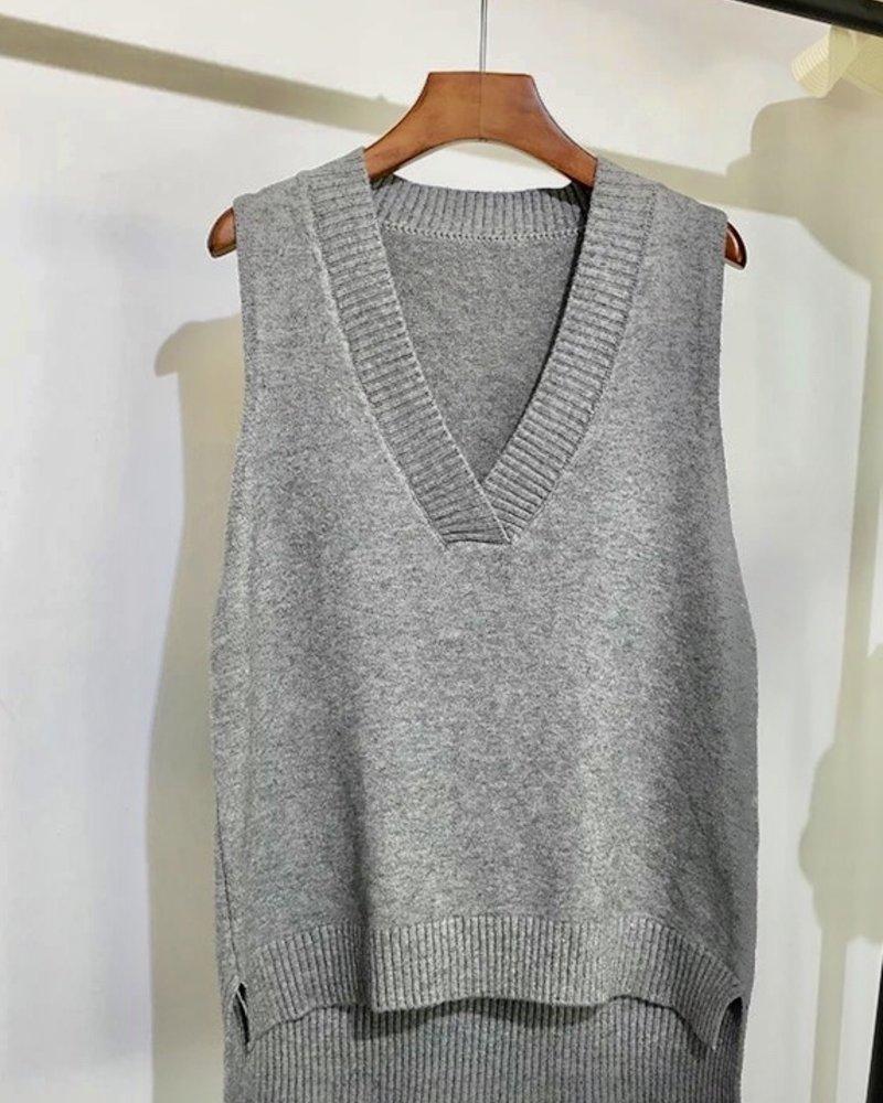 Fashion-Click Knit Spencer Grijs
