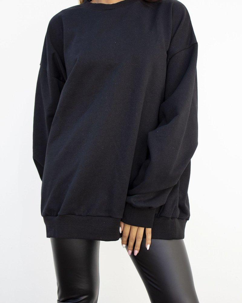 Fashion-Click Sweater Dor Zwart Goud