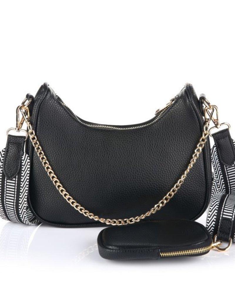 Fashion-Click Tas Pochette Zwart