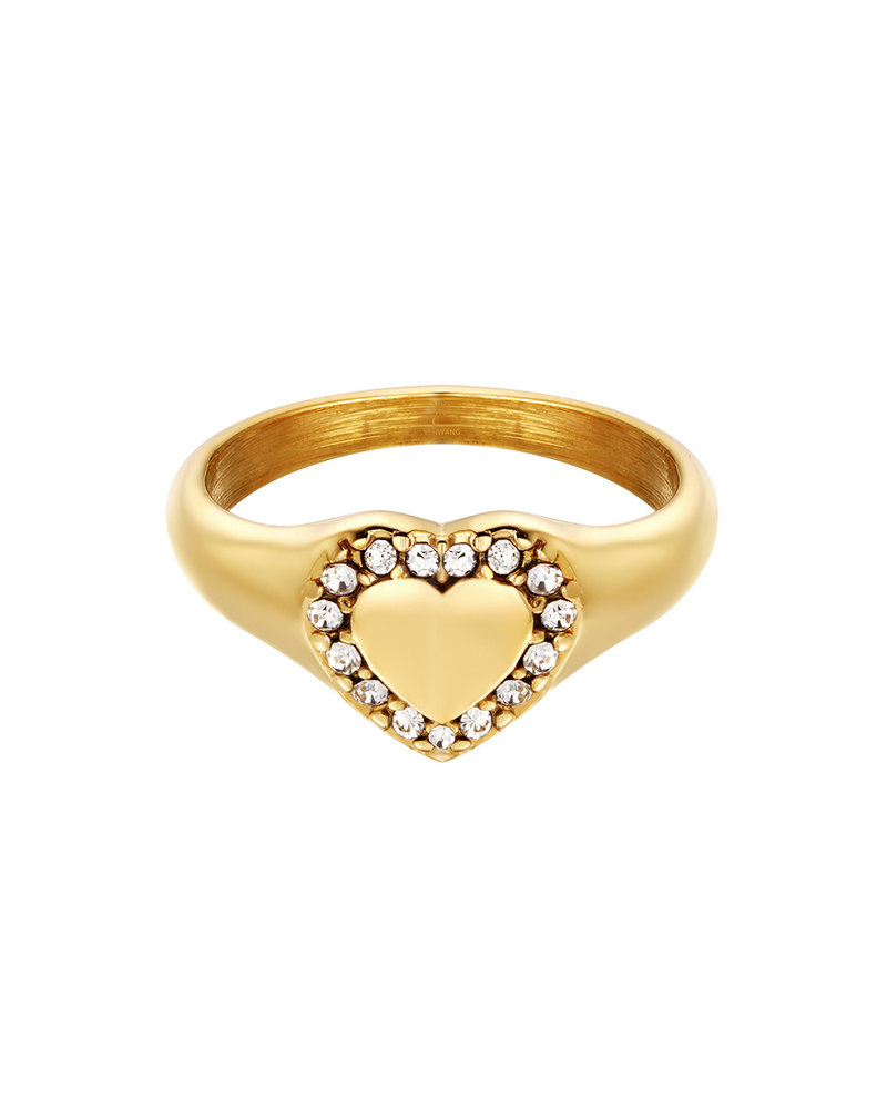 Fashion-Click Ring Heart Diamonds