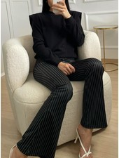 Fashion-Click Flared Legging Stripes