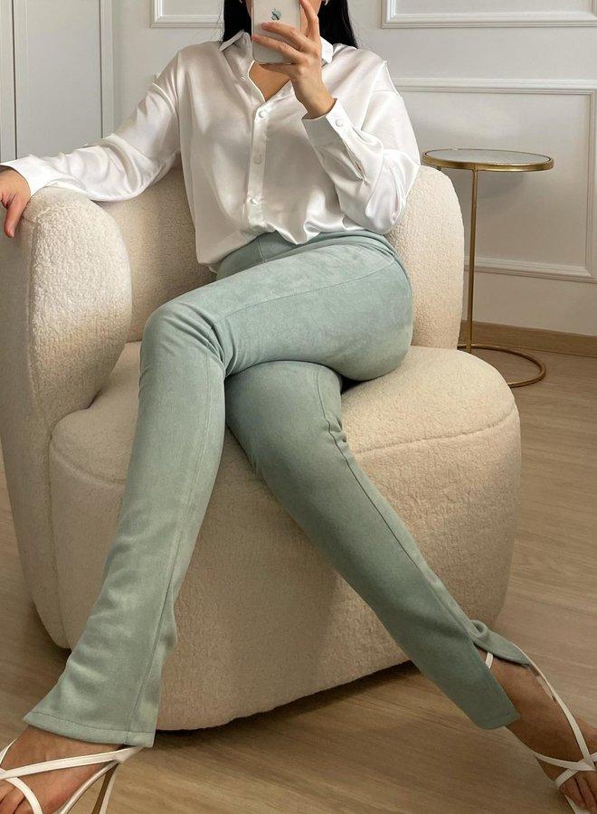 Split Legging Suedine Mint