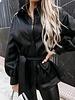 Fashion-Click Blouse Jasje Leatherlook Zwart