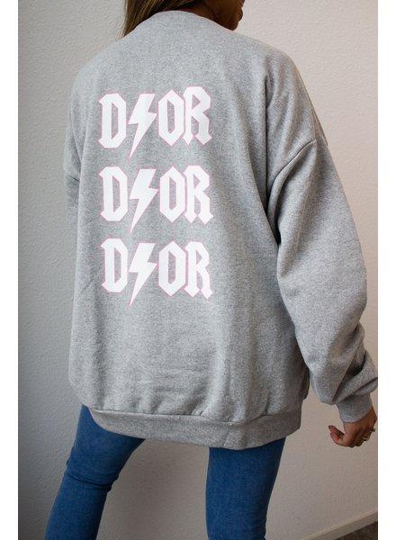 Fashion-Click Sweater Dor Grijs